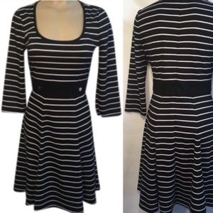 WHBM Striped Black & White Dress 6